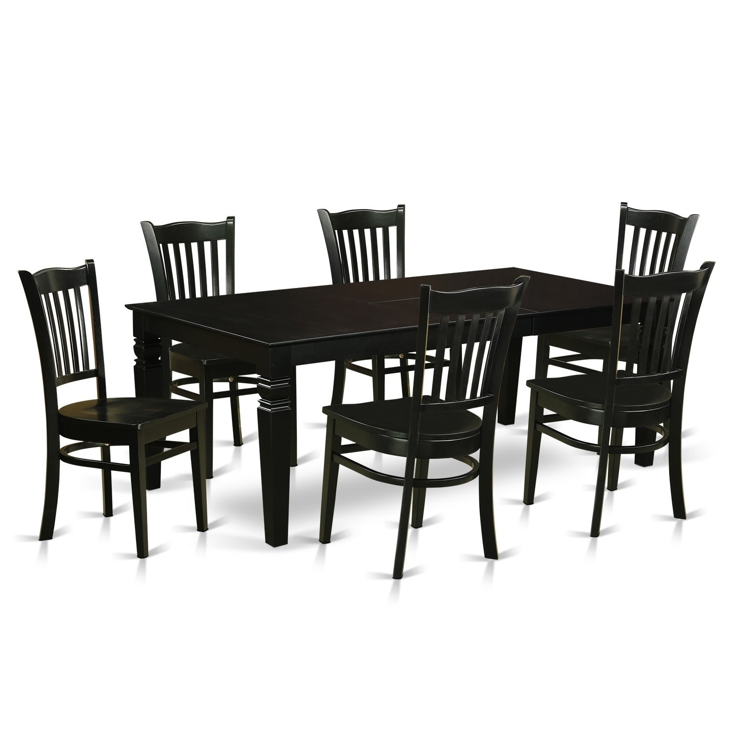 LGG5-BLK-W 5 Pc Dining Room set with a Table and 4 Kitchen Chairs | eBay