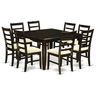 """PARF9-CAP 9 Pc Dining room set-Square 54"""" Table and 8 Stools"""