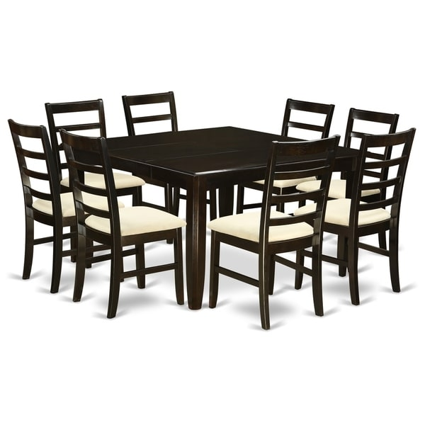 Parf9 Cap 9 Pc Dining Room Set Square 54 Table And 8 Stools