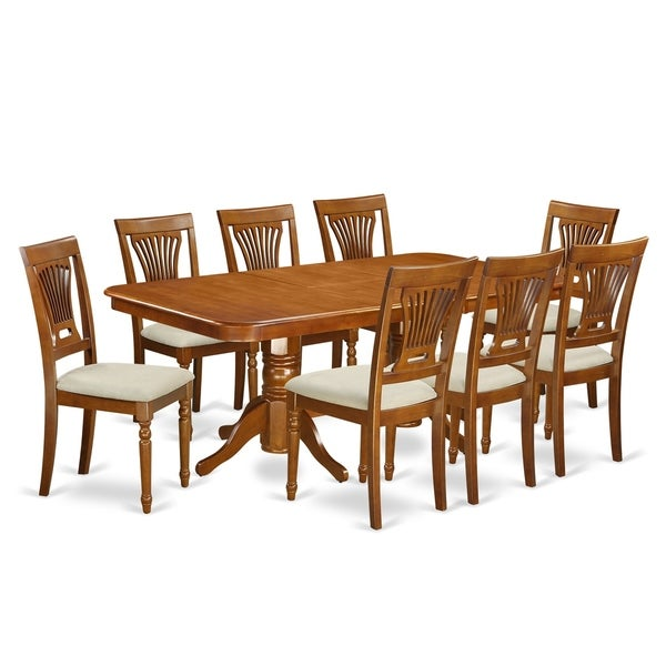 free dining room table | Shop NAPL9-SBR 9 Pc Dining room set-Dining Table and 8 ...