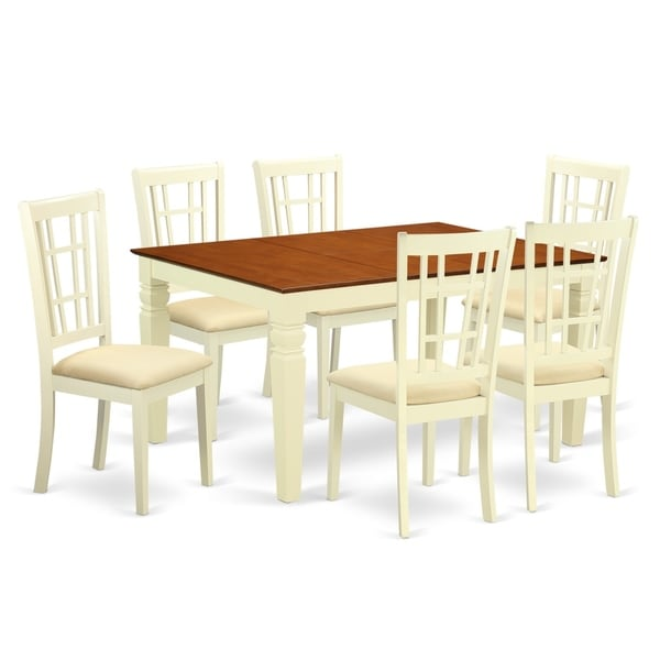 Weni7 Bmk 7 Pc Kitchen Table Set With A Dining And 6 Chairs