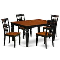WELG5-W  5 Pc Dining set with a Dining Table and 4 Wood Chairs