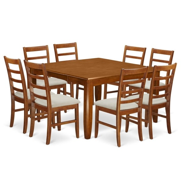 9 Piece Formal Dining Room Sets: Shop PARF9-SBR 9 Pc Formal Dining Set Square Table And 8