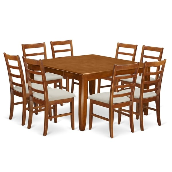 8 Chair Square Dining Table: Shop PARF9-SBR 9 Pc Formal Dining Set Square Table And 8 Dining Chairs