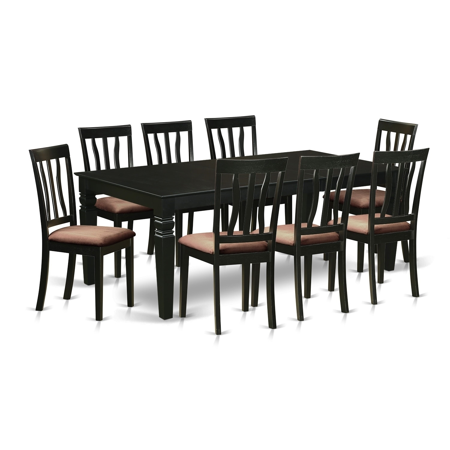 LGAN9-BLK 9 Pc Dining Room set with a Table and 8 Chairs
