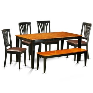 NIAV6-BCH 6 PC Kitchen set-Dining Table and 4 Chairs plus a bench