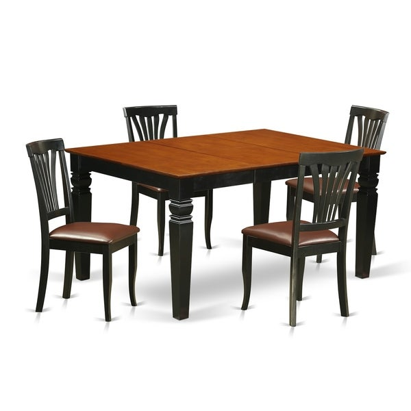 Free Kitchen Table And Chairs: Shop WEAV5-BCH 5 Pc Kitchen Table Set With A Kitchen Table