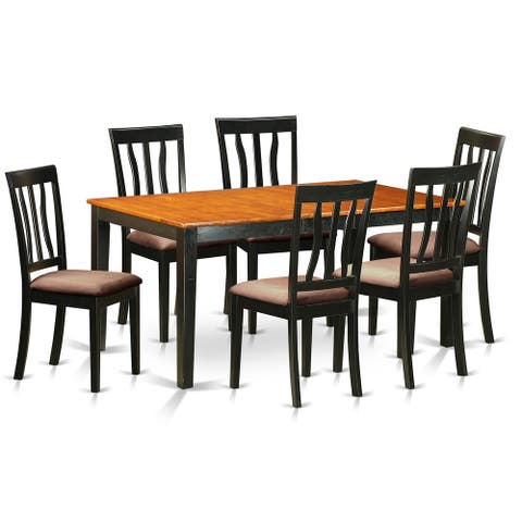 NIAN7-BCH 7PC Kitchen Table set-Dining Table and 6 Dining Chairs