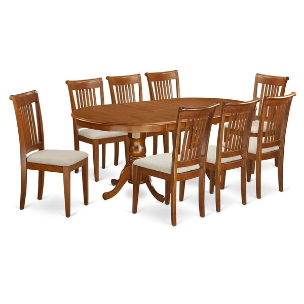free dining room table | Shop PLPO9-SBR 9 PC Dining room set-Dining Table plus 8 ...