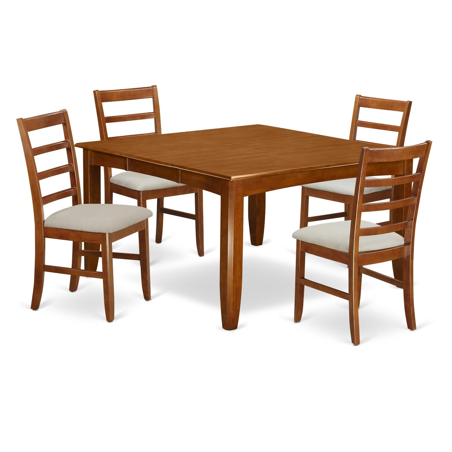 Shop Parf5 Sbr 5 Pc Dining Room Set Square Table And 4 Dining Chairs Overstock 17676489 Rubberwood Wood