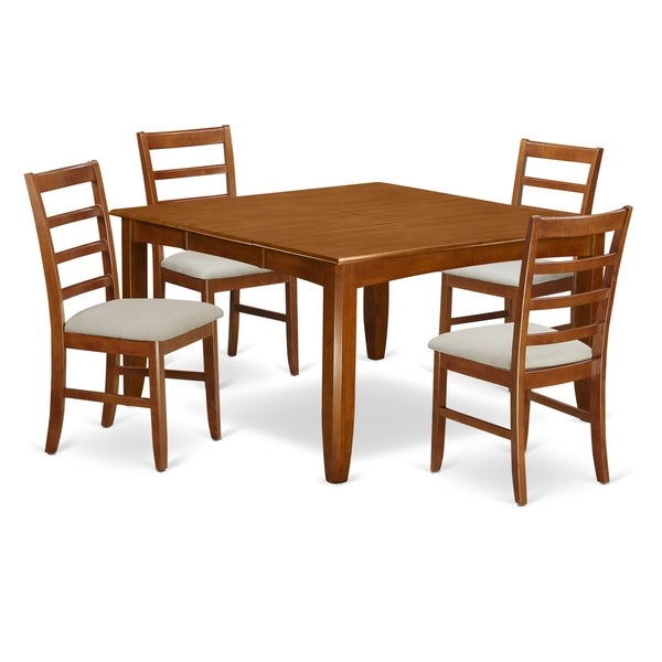 Shop PARF5-SBR 5 Pc Dining Room Set-Square Table And 4