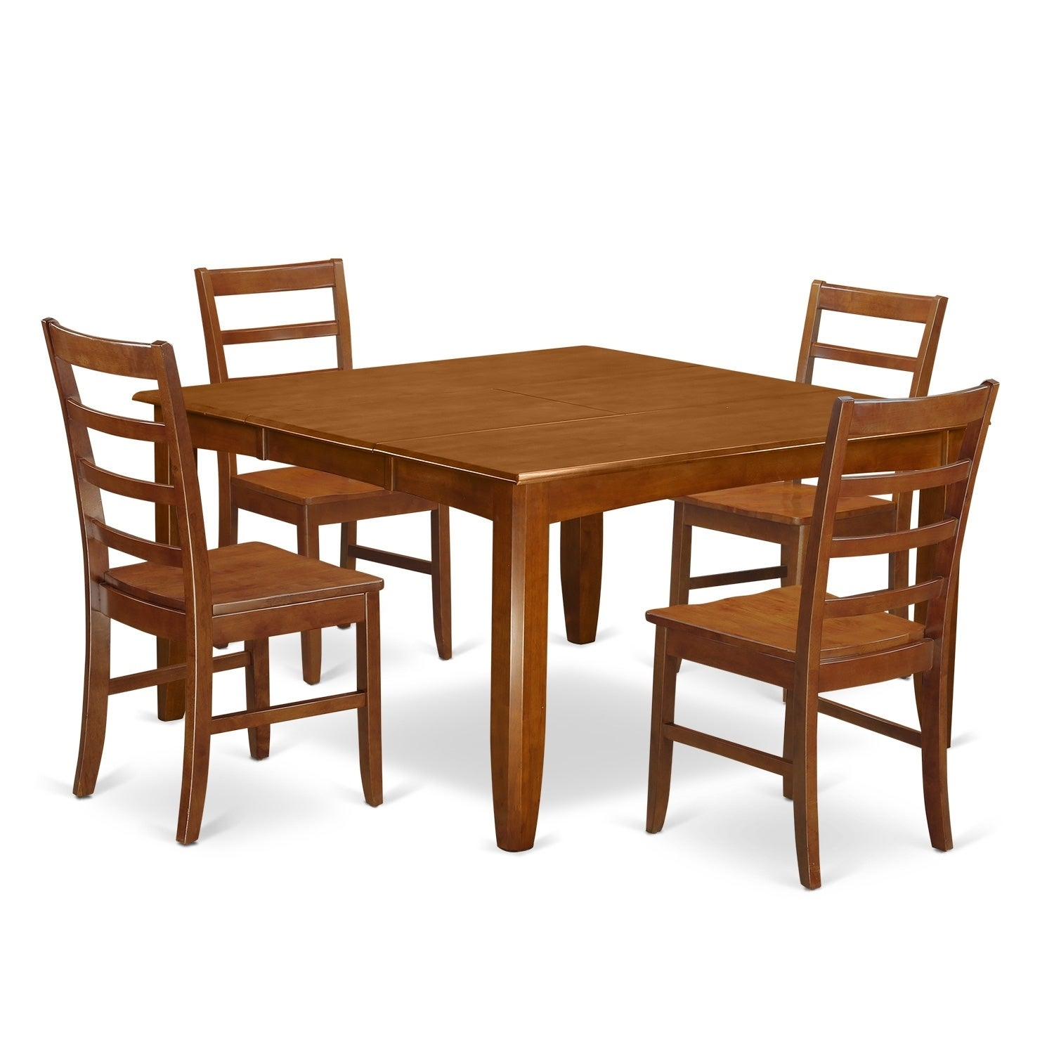 PARF5-SBR 5 Pc Dining Room Set-Square Table And 4 Dining