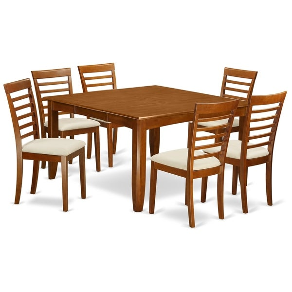 52 Kitchen Tables And Chairs Sets 7 Pc Dining Room: Shop PFML7-SBR 7 PC Dining Room Set-Table With Leaf And 6