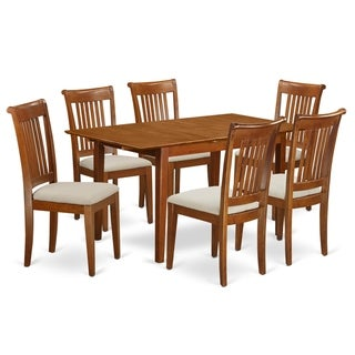 MLPO7-SBR  7 Pc dinette set for small spaces- Table and 6  Chairs