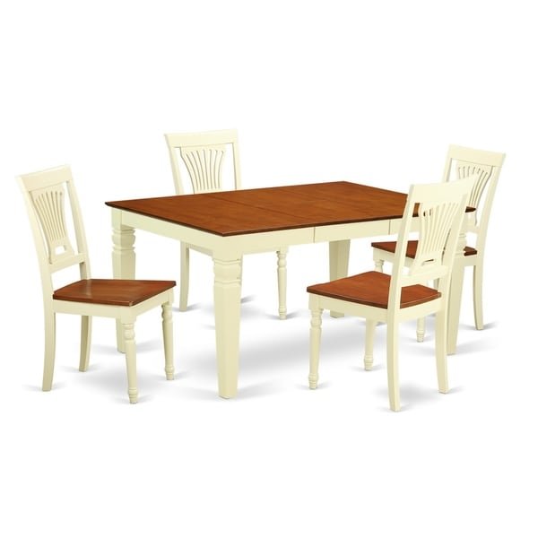 Free Kitchen Table And Chairs: Shop WEPL-BMK-W 5 Pc Kitchen Table Set With A Table And 4