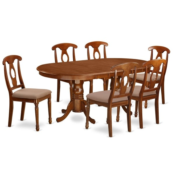52 Kitchen Tables And Chairs Sets 7 Pc Dining Room: Shop PLNA7-SBR 7 PC Dining Room Set-Dining Table With 6