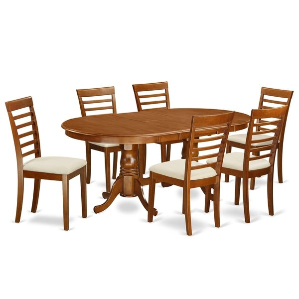 52 Kitchen Tables And Chairs Sets 7 Pc Dining Room: Shop PLML7-SBR 7 Pc Dining Room Set-Dining Table With 6