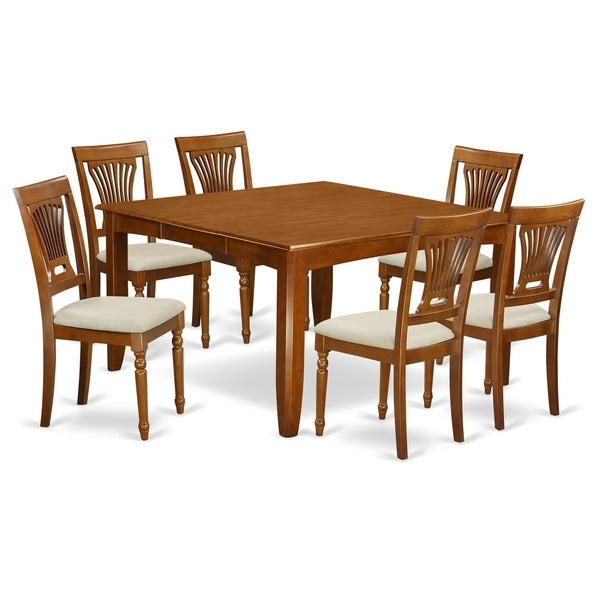 52 Kitchen Tables And Chairs Sets 7 Pc Dining Room: Shop PFPL7-SBR 7 Pc Dining Room Set-Table With Leaf And 6