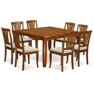 PFAV9 SBR 9 Pc Dining Room Set Dining Table And 8 Dinette Chairs.