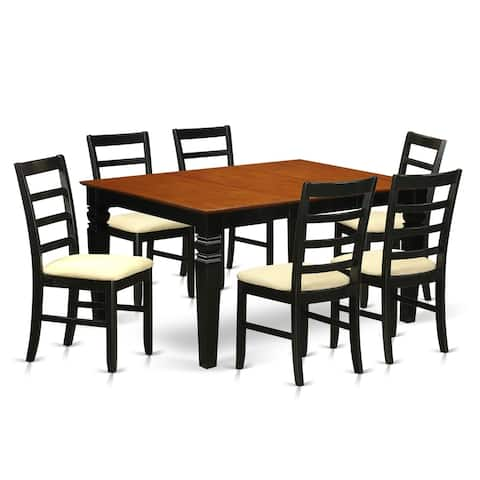 WEPF7-BCH 7 Pc Dining set with a Dining Table and 6 Kitchen Chairs