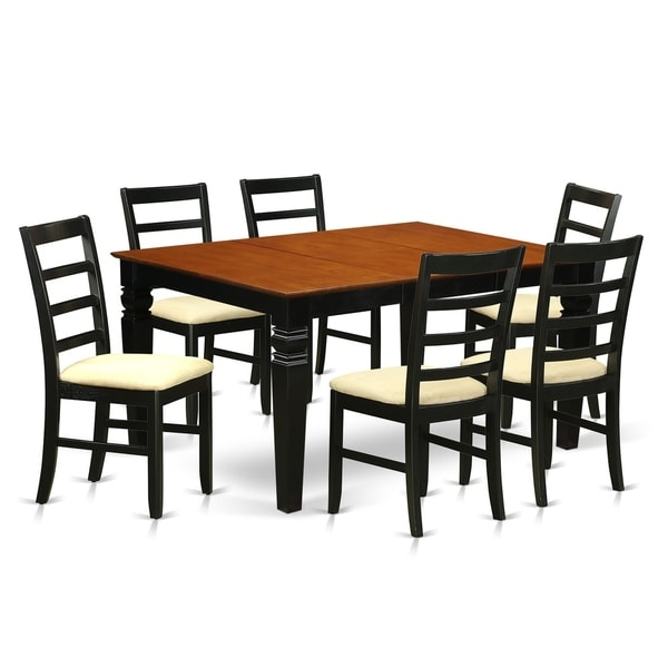 WEPF7-BCH 7 Pc Dining set with a Dining Table and 6 Kitchen Chairs. Opens flyout.