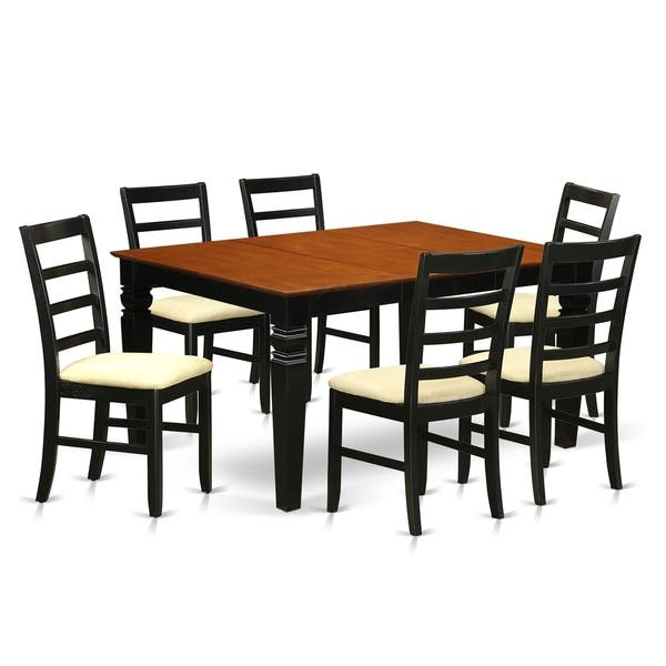 Shop Black Friday Deals On WEPF7-BCH 7 Pc Dining Set With A Dining Table And 6 Kitchen Chairs - Overstock - 17676505