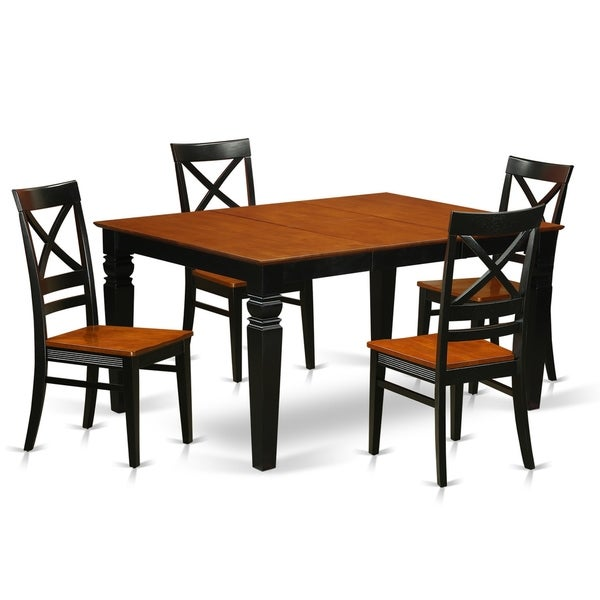 Free Kitchen Table And Chairs: Shop WEQU5-W 5 Pc Kitchen Table Set With A Kitchen Table