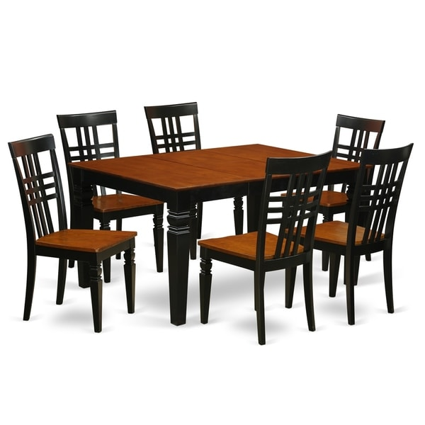Shop WELG7-W 7 Pc Dining Set With A Kitchen Table And 6