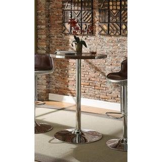 Acme Furniture Brancaster Bar Table, Top Grain Leather & Aluminum