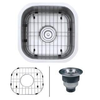 Ruvati 16 x 16 inch Bar Prep Sink Undermount 16 Gauge Stainless Steel - RVM4138