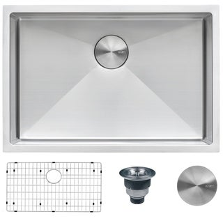 "Ruvati RVH7250 Sink 28"" Single Bowl Undermount 16 Gauge Stainless Steel"