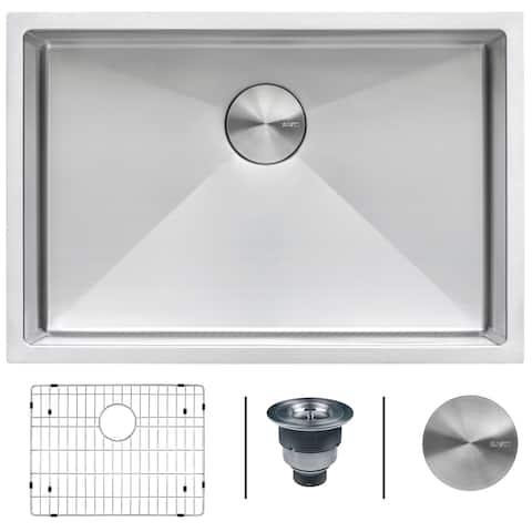 Ruvati 26-inch Undermount 16 Gauge Tight Radius Stainless Steel Kitchen Sink Single Bowl - RVH7126