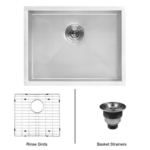 "Ruvati 23"" x 18"" x 12"" Deep Laundry Utility Sink Undermount 16 Gauge Stainless Steel - RVU6100"