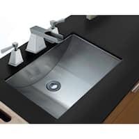 "Ruvati 21"" x 15""  Brushed Stainless Steel Rectangular Bathroom Sink Undermount - RVH6110"