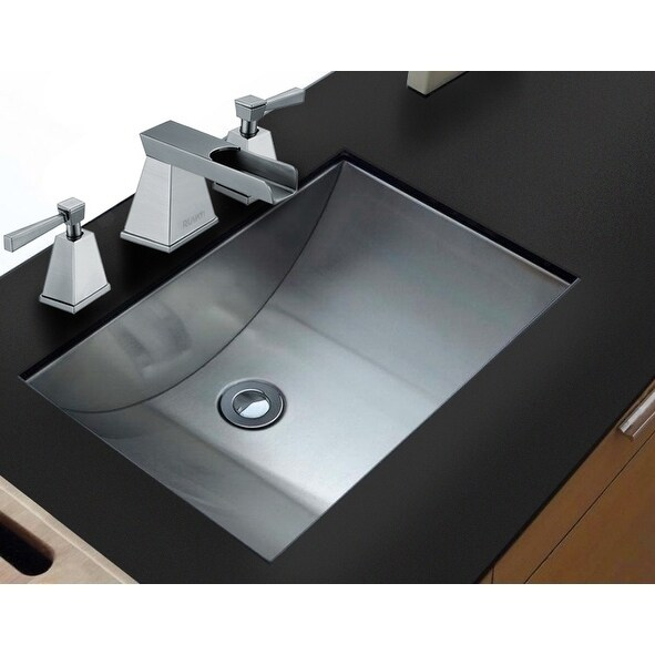 Ruvati 21 X 15 Brushed Stainless Steel Rectangular Bathroom Sink Undermount Rvh6110