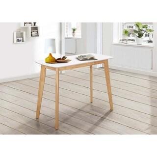 42-Inch Retro Modern Wood Writing Desk - White/ Natural