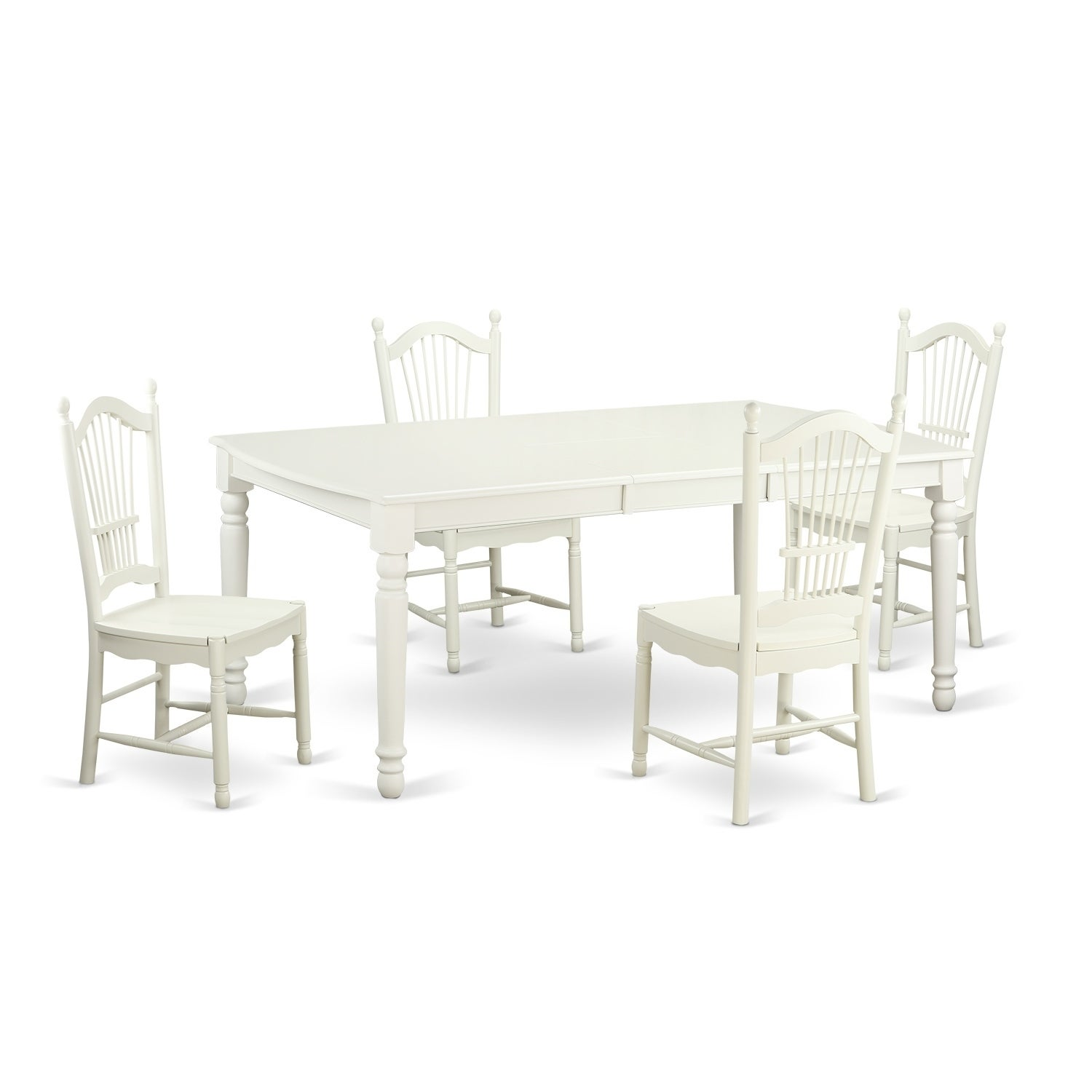 DOVE5-W 5 Pc dinette set - dinette Table and 4 Kitchen Dining Chairs ...