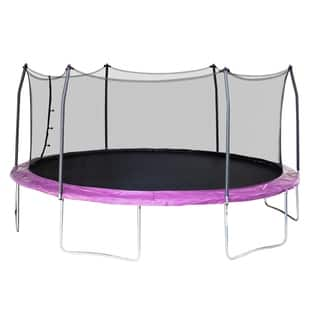 Skywalker Trampolines 17' Oval Trampoline with Enclosure - Purple