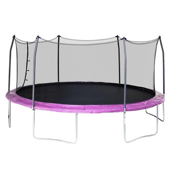Skywalker Trampolines 17' Oval Trampoline with Enclosure - Purple