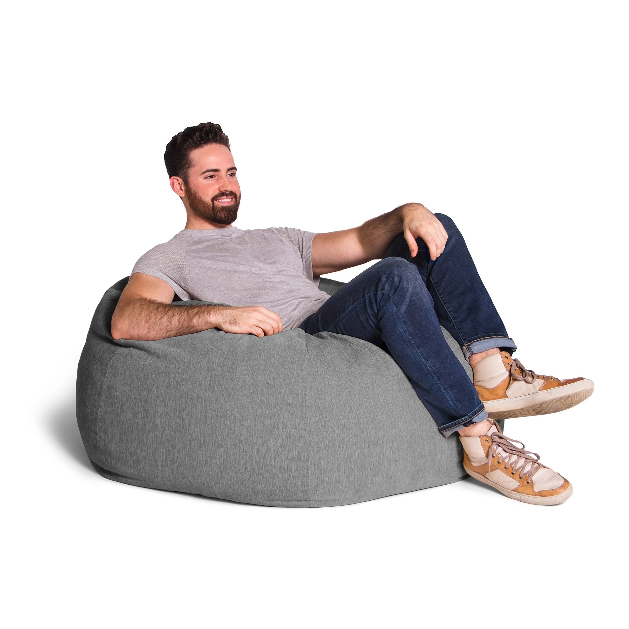 Fantastic Details About Jaxx Kiss Bean Bag Accent Chair With Chenille Cover Home Interior And Landscaping Mentranervesignezvosmurscom
