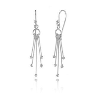 Mondevio Sterling Silver Dangling Sticks Lightweight Drop Earrings