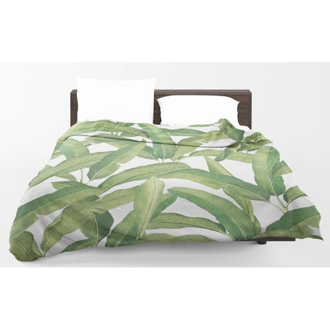 Kavka Designs Banana Leaves Light Weight Comforter By Marina Gutierrez