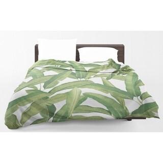 Kavka Designs Banana Leaves Light Weight Comforter By Marina Gutierrez