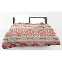 Kavka Designs Mesa Red Light Weight Comforter By Marina Gutierrez