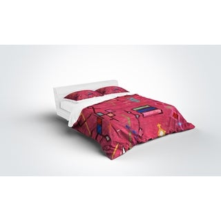 Kavka Designs Lilly In Pink Light Weight Comforter By Terri Ellis