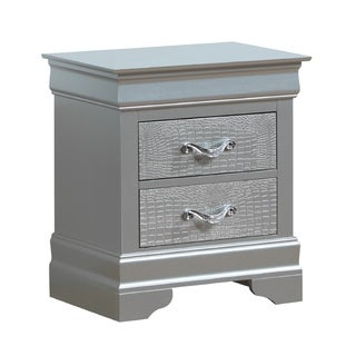 Silver Nightstands Amp Bedside Tables For Less Overstock Com