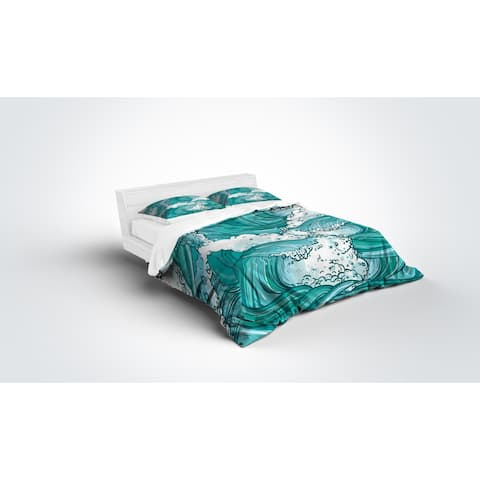 Kavka Designs Teal Wave Light Weight Comforter By Terri Ellis