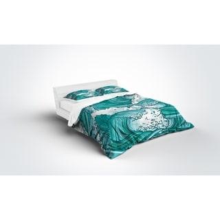 Kavka Designs Teal Wave Light Weight Comforter By Terri Ellis