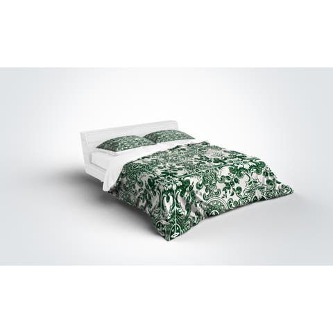 Kavka Designs Green Tile Light Weight Comforter By Terri Ellis