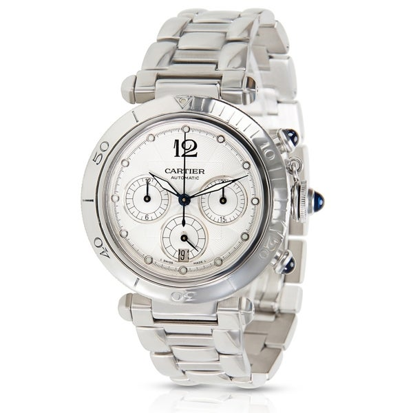 Shop Cartier Pasha Seatimer Chrono Men s Watch in Stainless Steel ... 23ba910c53